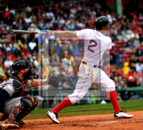 Red Sox shortstop XANDER BOGAERTS homers in the first