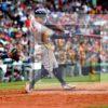 Astros center fielder GEORGE SPRINGER singles