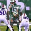 Jets quarterback JOSH MCCOWN points the way