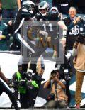 Eagles CARSON WENTZ celebrates with ALSHON JEFFERY
