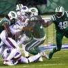 Jets defense sacks Buffalo Bills quarterback TYROD TAYLOR