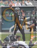 Eagles quarterback CARSON WENTZ throws a pass