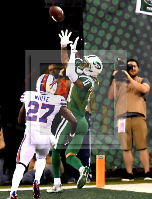 New York Jets wide receiver ROBBY ANDERSON makes leaping touchdown catch