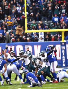 Eagles defense makes another key play blocking a field goal