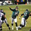 Philadelphia Eagles quarterback NICK FOLES throws touchdown pass to wide receiver Alshon Jeffery