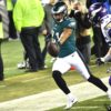 Philadelphia Eagles cornerback Patrick Robinson returns an intercepted pass