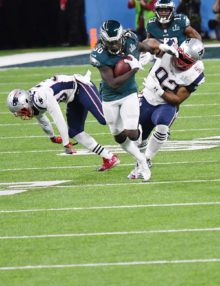 Eagles running back JAY AJAYI runs for a first down