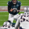 Eagles quarterback NICK FOLES barks out the signals in the third quarter