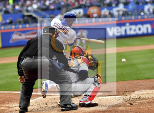 New York Mets Amed Rosario singles in the second inning