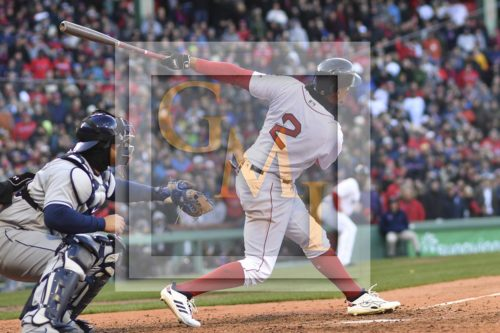 Red Sox shortstop Xander Bogaerts doubles in the ninth