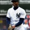 Yankees closer Aroldis Chapman flashes a big smile