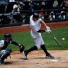 Yankees right fielder Aaron Judge hits a two-run home run in the first inning