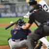 Yankees first baseman Greg Bird hits the first of two home runs
