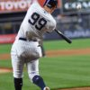 Yankees right fielder Aaron Judge hits his 20th home run
