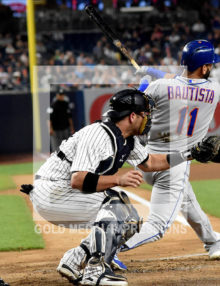 New York Mets Jose Bautista hits a two-run home run in the fourth