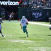 Dolphins quarterback RYAN TANNEHILL gains 20 yards on a quarterback keeper play