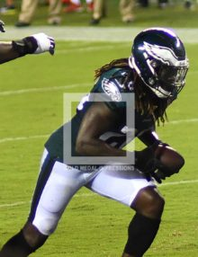 Philadelphia Eagles running back JAY AJAYI scores the first of two touchdowns