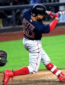 Boston Red Sox superstar Mookie Betts hits a 3-run home run