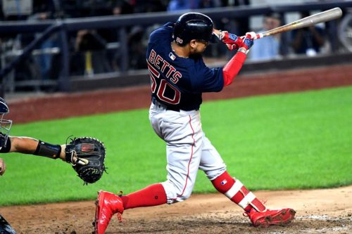 Boston Red Sox superstar Mookie Betts hits a 3-run home run
