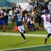 Philadelphia Eagles cornerback Rasul Douglas makes a critical interception