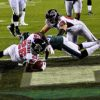 Atlanta Falcons running back TEVIN COLEMAN scores on a 9 yard run