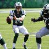 New York Jets quarterback Sam Darnold looks down field