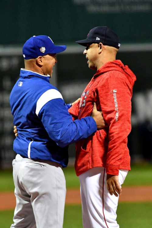 World Series managers Dave Roberts and Alex Cora old teammates from the 2004 Los Angeles Dodgers team reunite