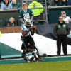 Panthers wide receiver Devin Funchess catches a touchdown pass