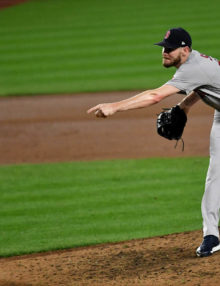 Boston Red Sox ace Chris Sale strikes out Aaron Hicks