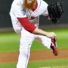 Red Sox closer Craig Kimbrel strikes out Los Angeles infielder Justin Turner