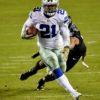 Dallas Cowboys running back Ezekiel Elliot runs for a first down