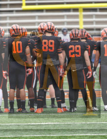 Princeton Tigers Defense gets ready for Penn