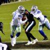 Dallas Cowboys running back Ezekiel Elliot scores his second and game winning touchdown