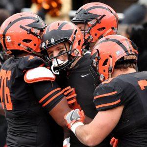 Princeton University leading receiver Jesper Horsted