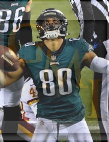 Eagles wide receiver JORDAN MATTHEWS celebrates after receiving a 4 yard touchdiown pass