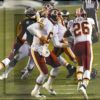 Redskins quarterback Mark Sanchez hands off to Adrian Peterson who runs for a 90 yard touchdown