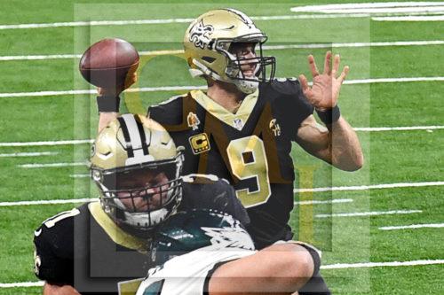 Saints Drew Brees throws the go-ahead touchdown pass to wide receiver Michael Thomas