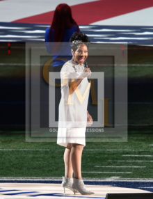 Gladys Knight performs during the halftime show at Super Bowl LIII