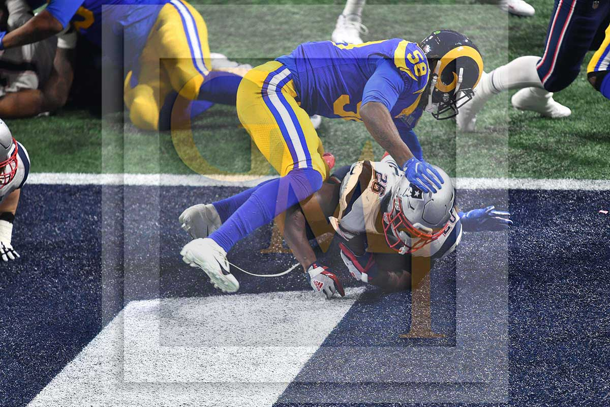 New England Patriots running back Sony Michel scores the winning touchdown  on a 2 yard run in the fourth quarter of Super Bowl LIII 02791f150