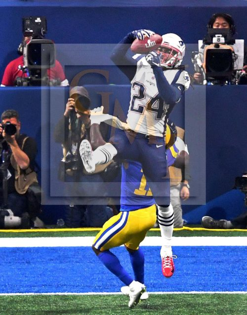 New England Patriots all-pro corner back Stephon Gilmore makes the defensive play of the game