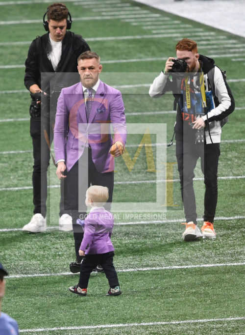 Conor McGregor and Son at Super Bowl LIII