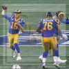 Coach Sean McVey throwing a pass at Super Bowl LIII