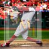 Philadelphia Phillies third baseman Maikel Franco hits a three-run home run in the sixth