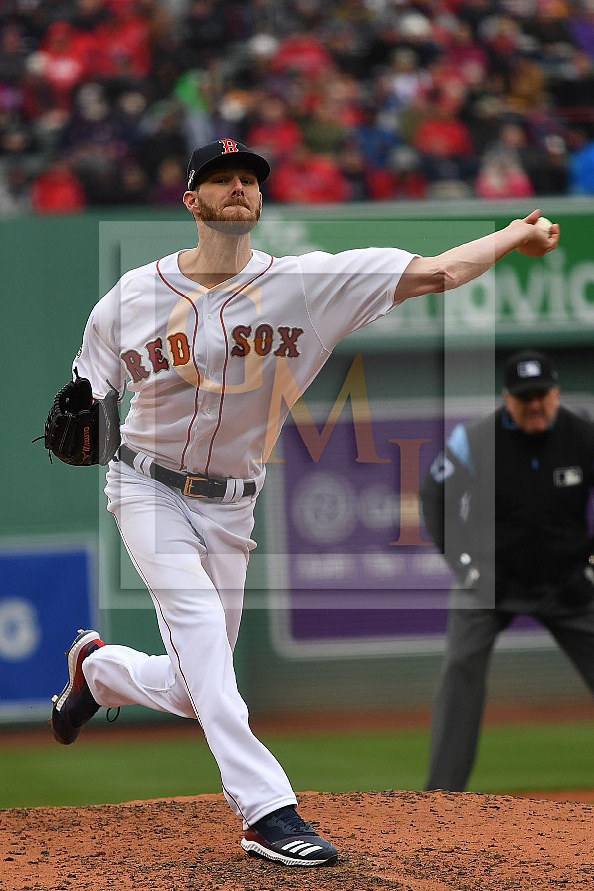 cb6327926 Boston Red Sox starting pitcher Chris Sale gives up a leadoff single - Gold  Medal Impressions