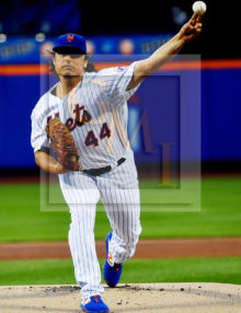 New York Mets starting pitcher Jason Vargas strikes out Philadelphia Phillies Andrew McCutchen