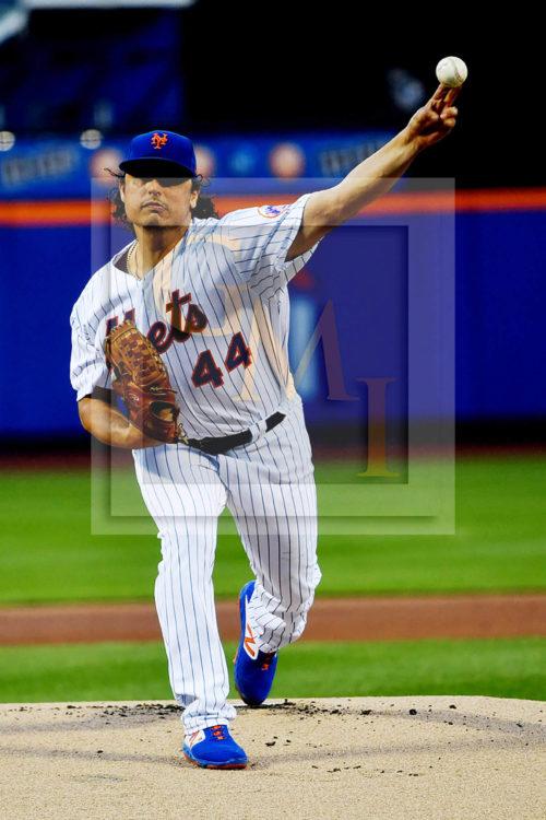 New York Mets starting pitcher Jason Vargas strikes out Philadelphia Phillies Andrew McCutchen