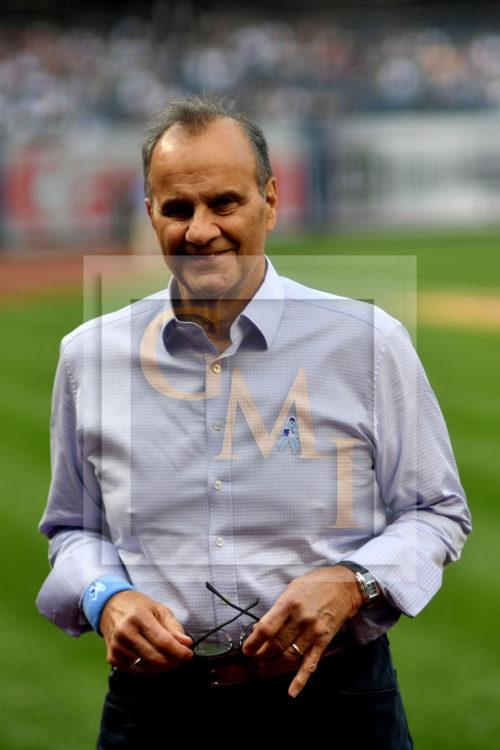 Former New York Yankee manager Joe Torre returns to Yankee Stadium