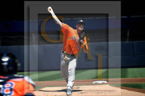 Houston Astros Ace Justin Verlander throws a strike