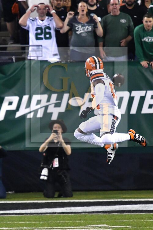 Odell Beckham Jr makes a spectacular one-handed grab on the Jets' 4 yard line