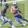 Buffalo Bills wide receiver Cole Beasley receives a pass from Bills quarterback Josh Allen